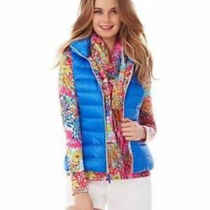 Lilly Pulitzer Electric Blue Puffer Vest- NEW!